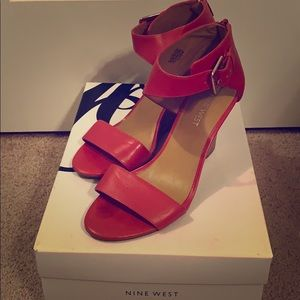 Nine West Red wedged sandals